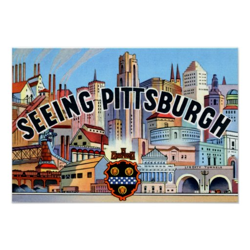 Pittsburgh Pennsylvania que ve Pittsburgh Póster