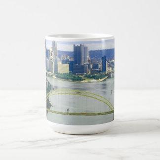 Pittsburgh Pennsylvania Rivers Classic White Coffee Mug