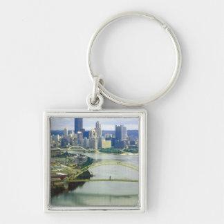 Pittsburgh Pennsylvania Rivers Keychain