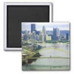 Pittsburgh Pennsylvania Rivers 2 Inch Square Magnet