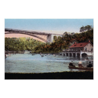 Pittsburgh Pennsylvania Schenley Lake Panther Holl Poster