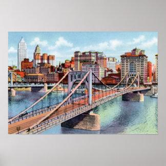 Pittsburgh Pennsylvania Sixth Street Bridge Poster