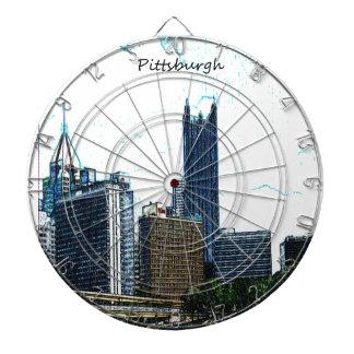 Pittsburgh Pennsylvania Skyline Dartboards
