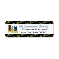 Pittsburgh Pennsylvania Skyline Personalized Label