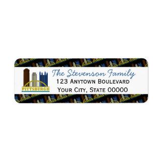 Pittsburgh Pennsylvania Skyline Personalized Label