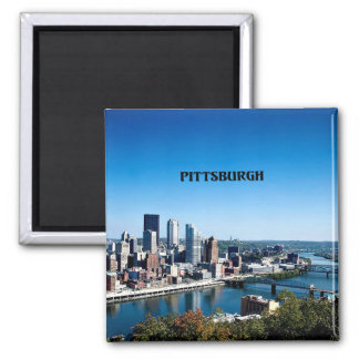 Pittsburgh, Pennsylvania skyline photograph 2 Inch Square Magnet