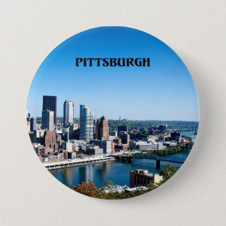 Pittsburgh, Pennsylvania skyline photograph Pinback Button