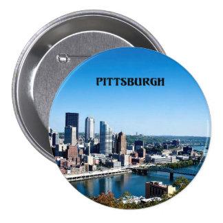 Pittsburgh, Pennsylvania skyline photograph Pinback Button