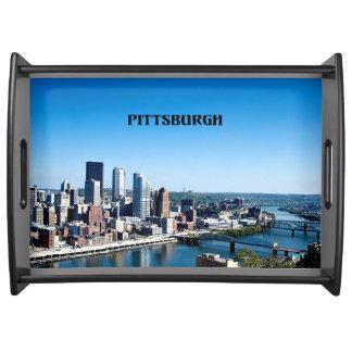 Pittsburgh, Pennsylvania skyline photograph Serving Tray