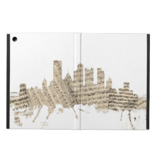 Pittsburgh Pennsylvania Skyline Sheet Music Citysc iPad Air Cover