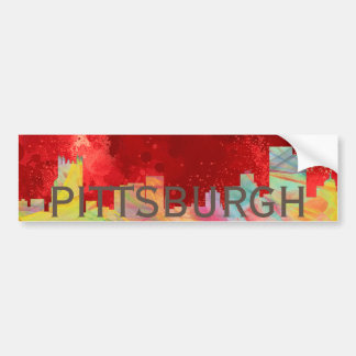 PITTSBURGH PENNSYLVANIA SKYLINE WB1- BUMPER STICKER