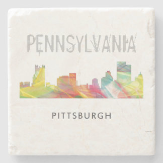 PITTSBURGH PENNSYLVANIA SKYLINE WB1- STONE COASTER