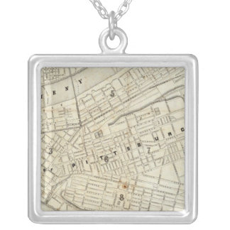Pittsburgh, Pennsylvania Square Pendant Necklace