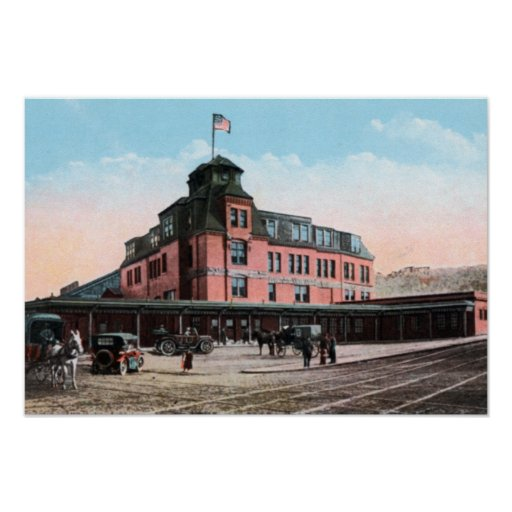 Pittsburgh Pennsylvania Train Station Poster