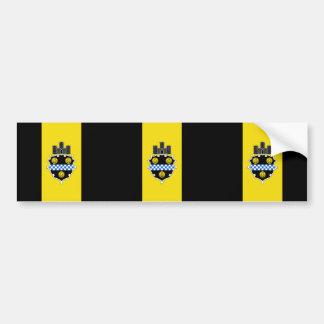 Pittsburgh, Pennsylvania, United States flag Bumper Sticker