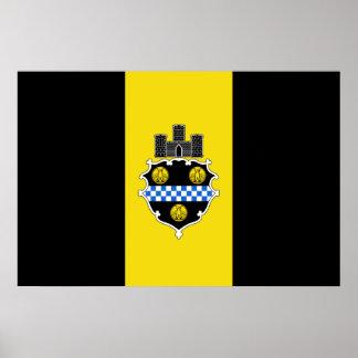 Pittsburgh Pennsylvania United States flag Poster