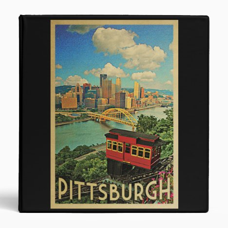 Pittsburgh Pennsylvania Vintage Travel 3 Ring Binder