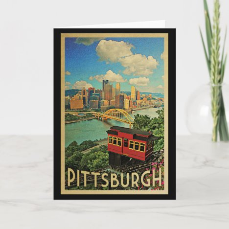Pittsburgh Pennsylvania Vintage Travel Card