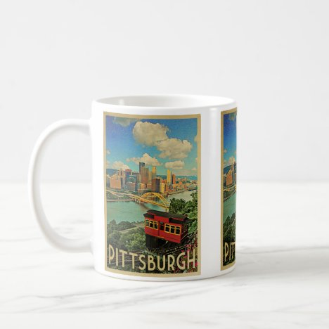 Pittsburgh Pennsylvania Vintage Travel Coffee Mug