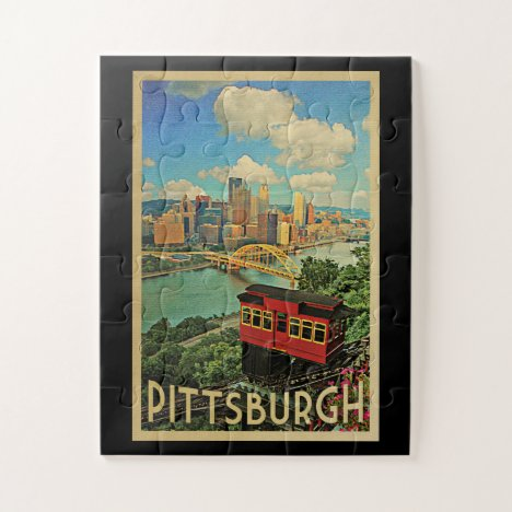 Pittsburgh Pennsylvania Vintage Travel Jigsaw Puzzle