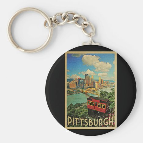 Pittsburgh Pennsylvania Vintage Travel Keychain