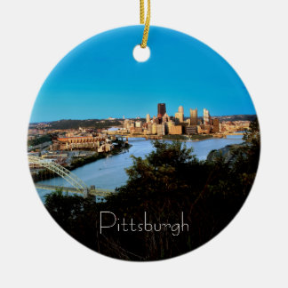 Pittsburgh Photo-Christmas Ornament-Double Sided Ceramic Ornament