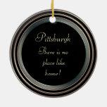 Pittsburgh-Photo- Ornament-2 sided Ceramic Ornament