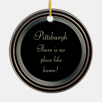 Pittsburgh-Photo- Ornament-2 sided Ceramic Ornament
