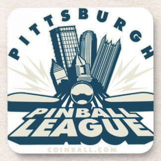 Pittsburgh Pinball League by Coinball.com Drink Coasters
