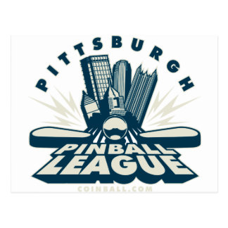 Pittsburgh Pinball League by Coinball.com Postcard