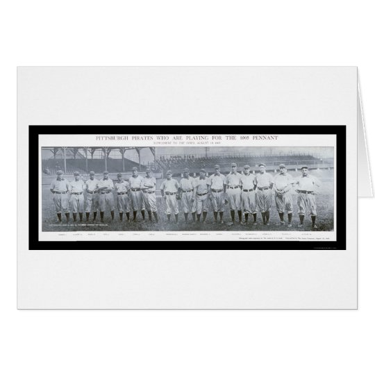 Pittsburgh Pirates Team Photo 1905 Card