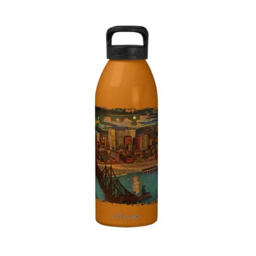 Pittsburgh por claro de luna botella de agua reutilizable