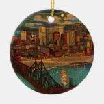 Pittsburgh por el ornamento del claro de luna ornamentos de navidad