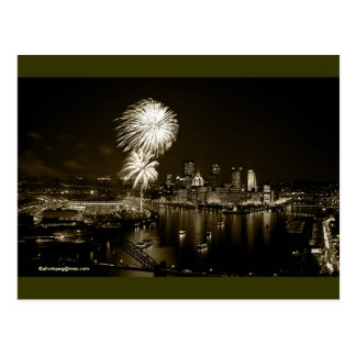 """Pittsburgh Postcard GoldenTriangle """"One of a Kind"""""""