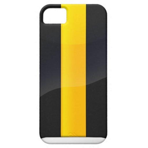 Pittsburgh Pride Black and Gold Helmet Design iPhone 5 Case