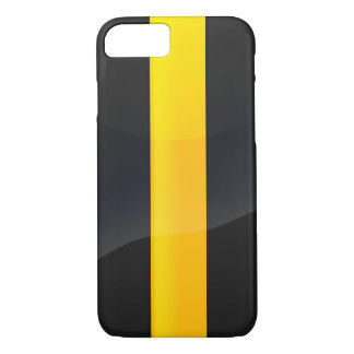 Pittsburgh Pride Black and Gold Helmet Design iPhone 8/7 Case