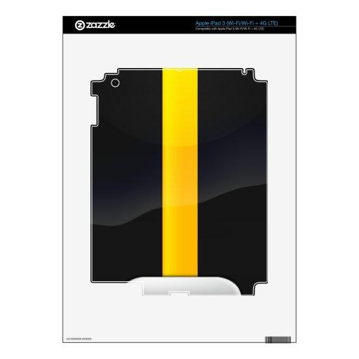 Pittsburgh Pride Black and Gold Helmet Design Skin For iPad 3