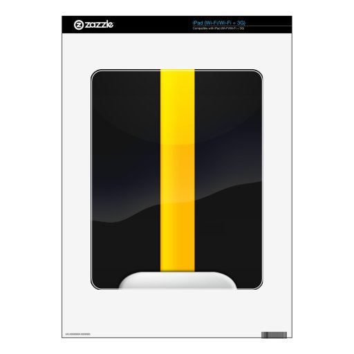 Pittsburgh Pride Black and Gold Helmet Design Decal For The iPad