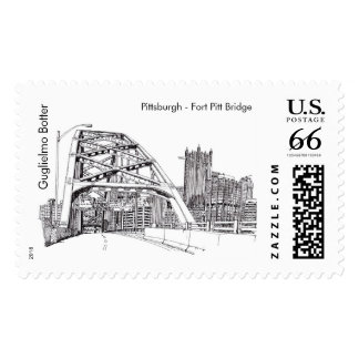 "Pittsburgh, ""puente de Pitt del fuerte """