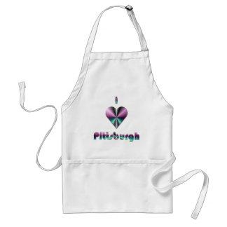 Pittsburgh -- Púrpura y turquesa Delantal