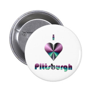 Pittsburgh -- Púrpura y turquesa Pins
