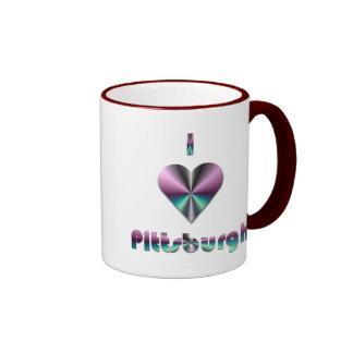 Pittsburgh -- Púrpura y turquesa Taza De Dos Colores