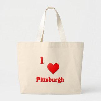 Pittsburgh -- Rojo Bolsa Lienzo