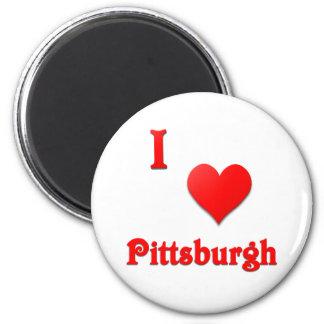 Pittsburgh -- Rojo Imán Redondo 5 Cm