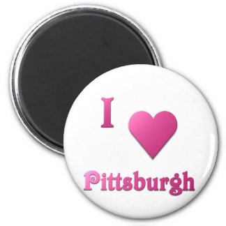Pittsburgh -- Rosas fuertes Imán Redondo 5 Cm