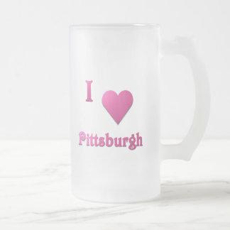 Pittsburgh -- Rosas fuertes Taza De Cristal