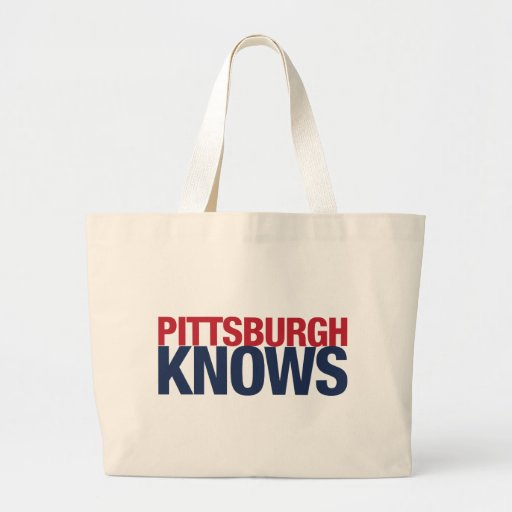 Pittsburgh sabe bolsa tela grande