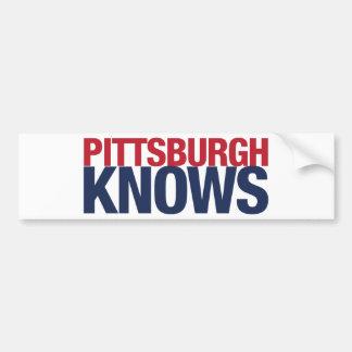 Pittsburgh sabe pegatina de parachoque