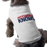 Pittsburgh sabe camiseta de perro