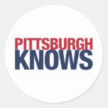 Pittsburgh sabe etiquetas redondas